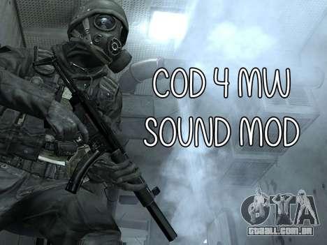 COD MW Sound Mod para GTA San Andreas