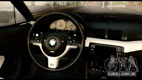 BMW M3 E46 TSK para GTA San Andreas vista direita