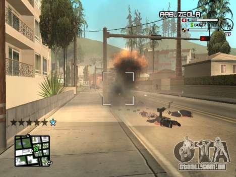 CLEO HUD by SampHack v.20 para GTA San Andreas por diante tela