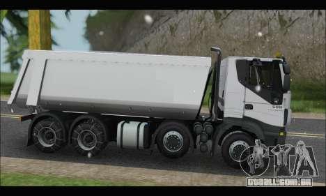 Iveco Trakker 2014 Tipper Snow para GTA San Andreas esquerda vista