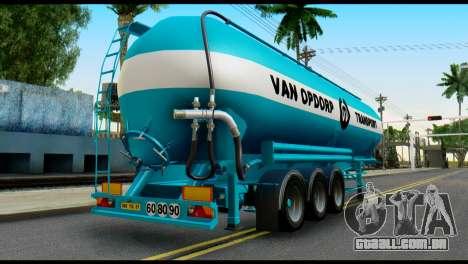 Mercedes-Benz Actros Trailer VAN OPDORP para GTA San Andreas esquerda vista