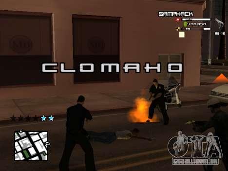 С-HUD por SampHack v. 21 para GTA San Andreas segunda tela