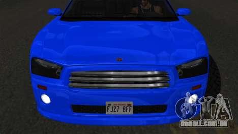 Bravado Buffalo Sedan v1.0 (IVF) para GTA San Andreas vista direita
