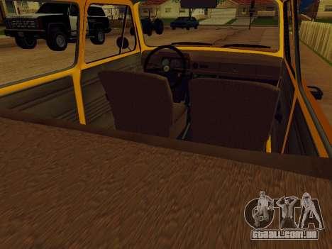 ZAZ 968 para GTA San Andreas vista traseira