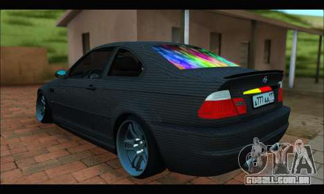 BMW M3 E46 Carbon para GTA San Andreas esquerda vista