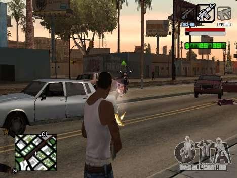 Nice C-HUD para GTA San Andreas segunda tela