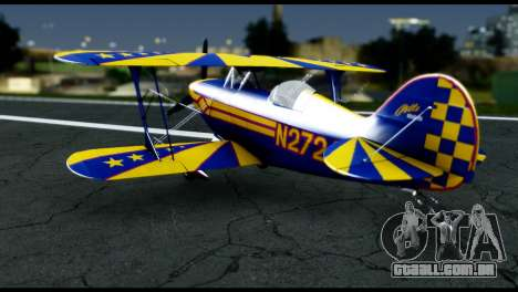 Alabeo PITTS S2S Blue para GTA San Andreas vista direita