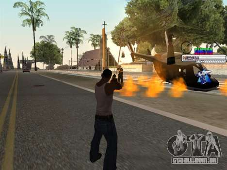 C-HUD Ghetto para GTA San Andreas por diante tela
