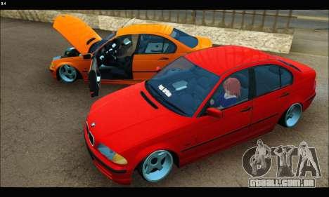 BMW e46 Sedan para GTA San Andreas vista interior