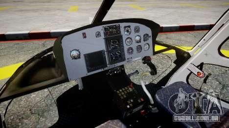 Eurocopter AS350 Ecureuil Aguia 11 PMESP para GTA 4 vista direita