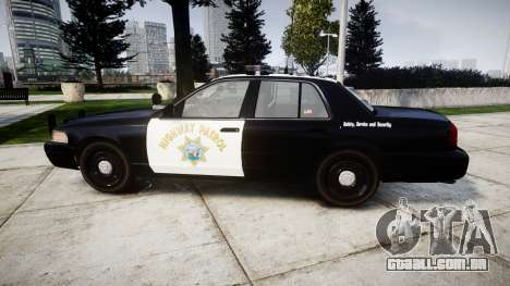 Ford Crown Victoria Highway Patrol [ELS] Liberty para GTA 4 esquerda vista
