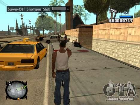 HUD by LMOKO para GTA San Andreas por diante tela