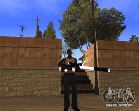 White Chrome Gun Pack para GTA San Andreas décimo tela