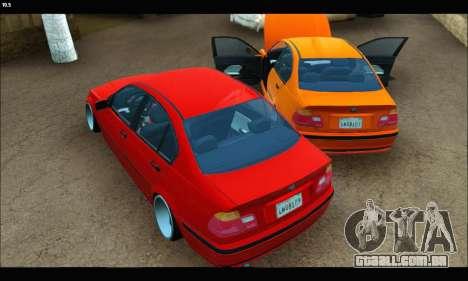 BMW e46 Sedan para GTA San Andreas vista traseira