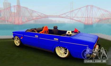 VAZ 2106 Convertible para GTA San Andreas esquerda vista