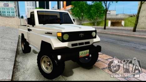 Toyota Land Cruiser Macho Pick-Up 2007 4.500 para GTA San Andreas