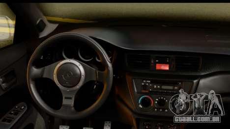 Mitsubishi Lancer Evo IX para GTA San Andreas vista direita
