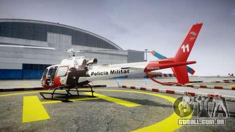 Eurocopter AS350 Ecureuil Aguia 11 PMESP para GTA 4 esquerda vista