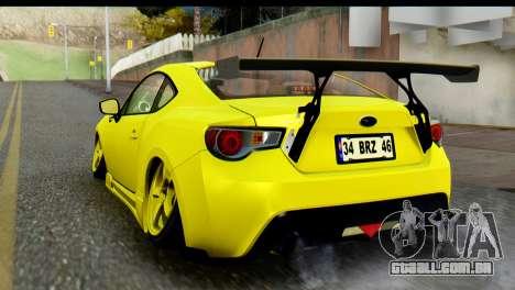Subaru BRZ 2013 para GTA San Andreas esquerda vista