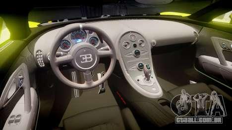 Bugatti Veyron Super Sport 2011 [EPM] Ken Block para GTA 4 vista interior