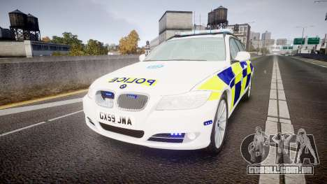 BMW 325d E91 2009 Sussex Police [ELS] para GTA 4