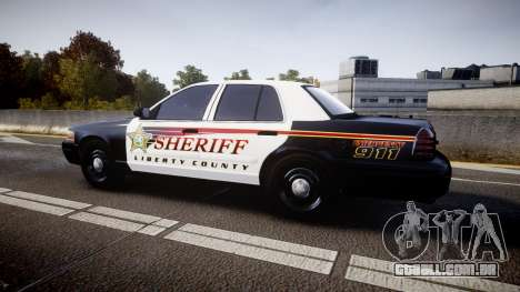 Ford Crown Victoria Sheriff [ELS] rims1 para GTA 4 esquerda vista