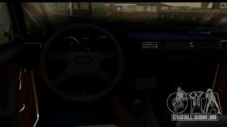 VAZ 2105 para GTA San Andreas vista interior