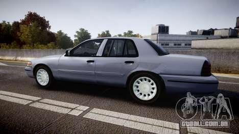Ford Crown Victoria Unmarked Police [ELS] para GTA 4 esquerda vista