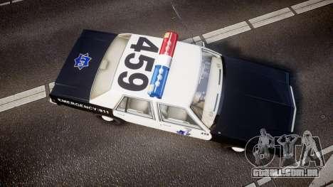 Ford LTD Crown Victoria 1987 LCPD [ELS] para GTA 4 vista direita