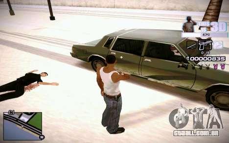 HUD 3D para GTA San Andreas por diante tela