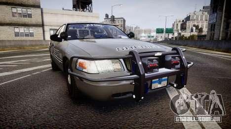 Ford Crown Victoria Sheriff K-9 Unit [ELS] pushe para GTA 4