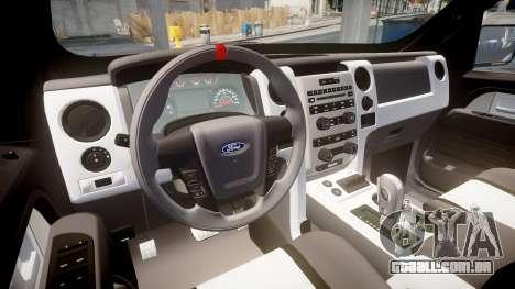 Ford F150 SVT Raptor 2011 Horizon para GTA 4 vista de volta