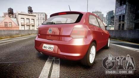 Volkswagen Gol G6 iTrend 2014 rims1 para GTA 4 traseira esquerda vista