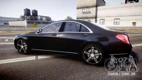 Mercedes-Benz S500 W222 para GTA 4 esquerda vista