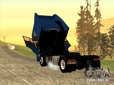 DAF XF para GTA San Andreas traseira esquerda vista