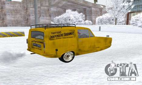 Reliant Supervan Only Fools and Horses para GTA San Andreas traseira esquerda vista