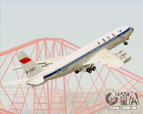 Boeing 707-300 CAAC para GTA San Andreas vista superior