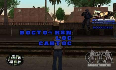 C-HUD SAPD para GTA San Andreas segunda tela