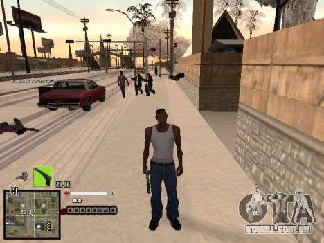 Um simples C-HUD para GTA San Andreas terceira tela