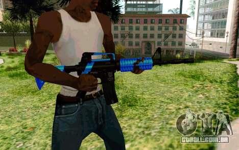 M4 Blue para GTA San Andreas terceira tela