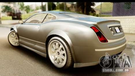 GTA 5 Enus Cognoscenti Cabrio SA Mobile para GTA San Andreas esquerda vista