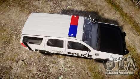 Chevrolet Tahoe 2010 Sheriff Dukes [ELS] para GTA 4 vista direita