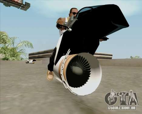Air bike para GTA San Andreas vista direita