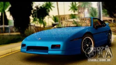 Pontiac Fiero GT G97 1985 IVF para GTA San Andreas traseira esquerda vista