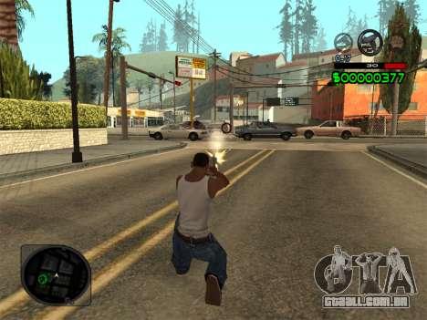 C-HUD by Radion para GTA San Andreas por diante tela