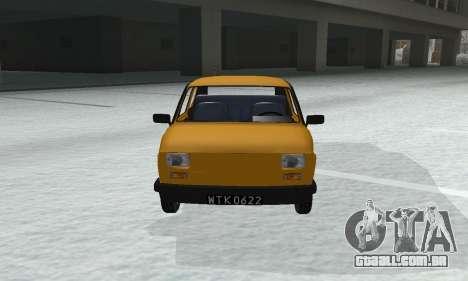 Fiat 126p FL para GTA San Andreas vista direita