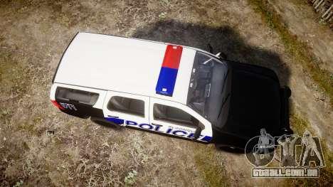 Chevrolet Tahoe 2010 Police Algonquin [ELS] para GTA 4 vista direita