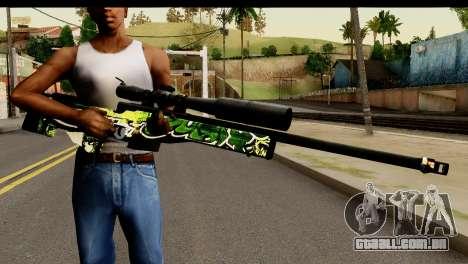 Grafiti Sniper Rifle para GTA San Andreas terceira tela