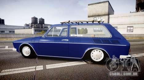 Volkswagen 1600 Variant 1973 para GTA 4 esquerda vista