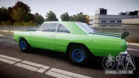 Dodge Dart HEMI Super Stock 1968 rims3 para GTA 4 esquerda vista